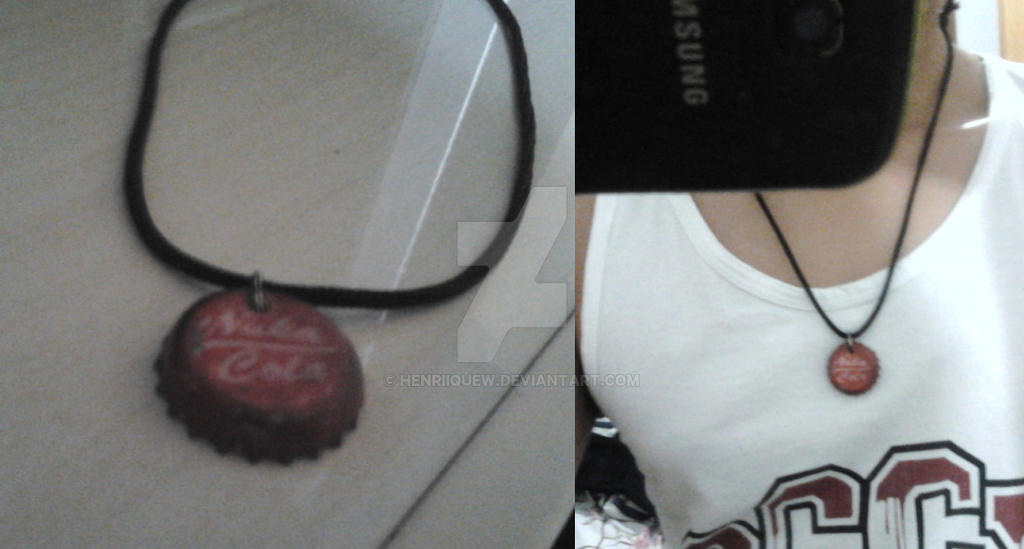 fallout nuka cola necklace by henriiquew on deviantart