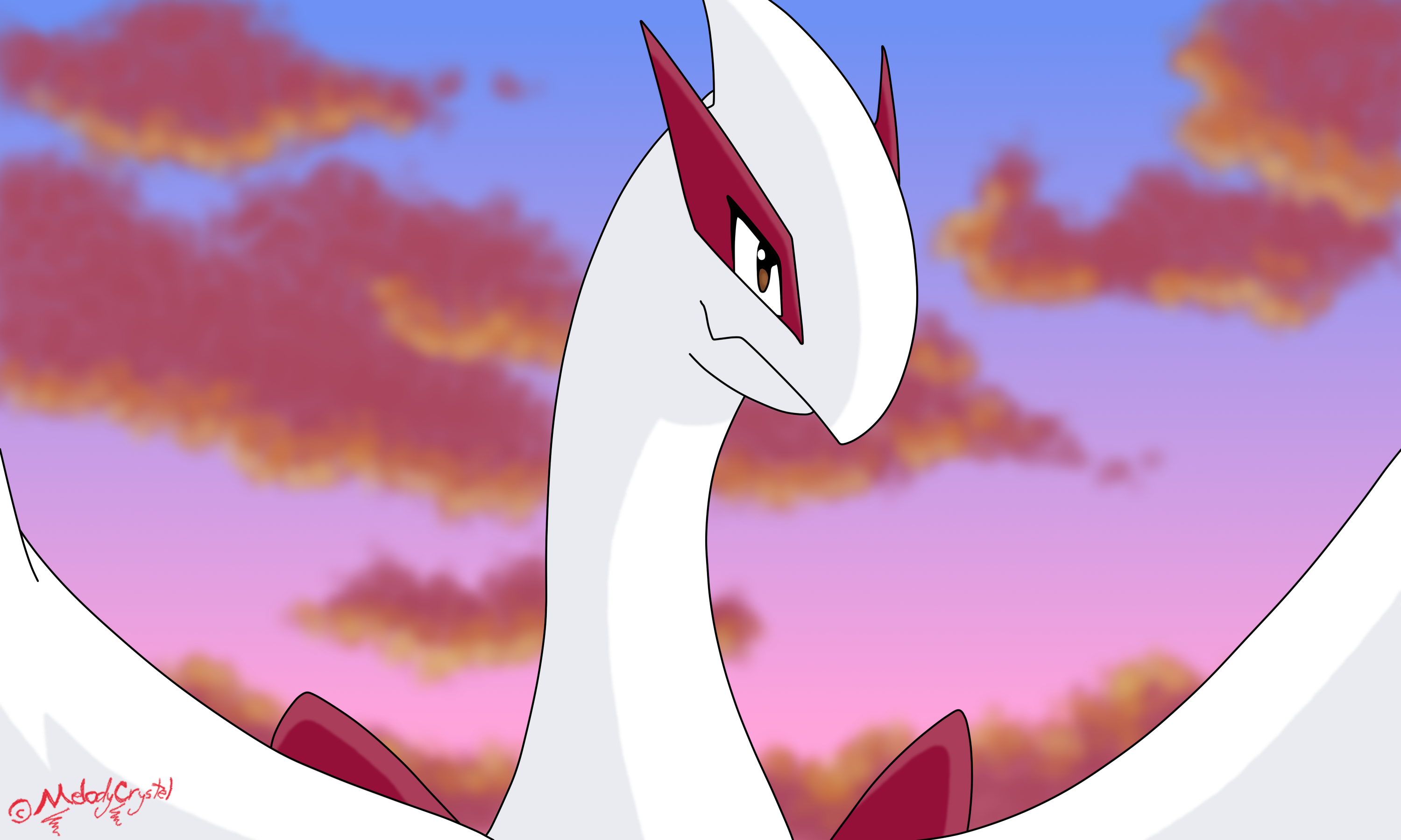 Shiny Lugia - Movie Scene by MelodyCrystel on DeviantArt
