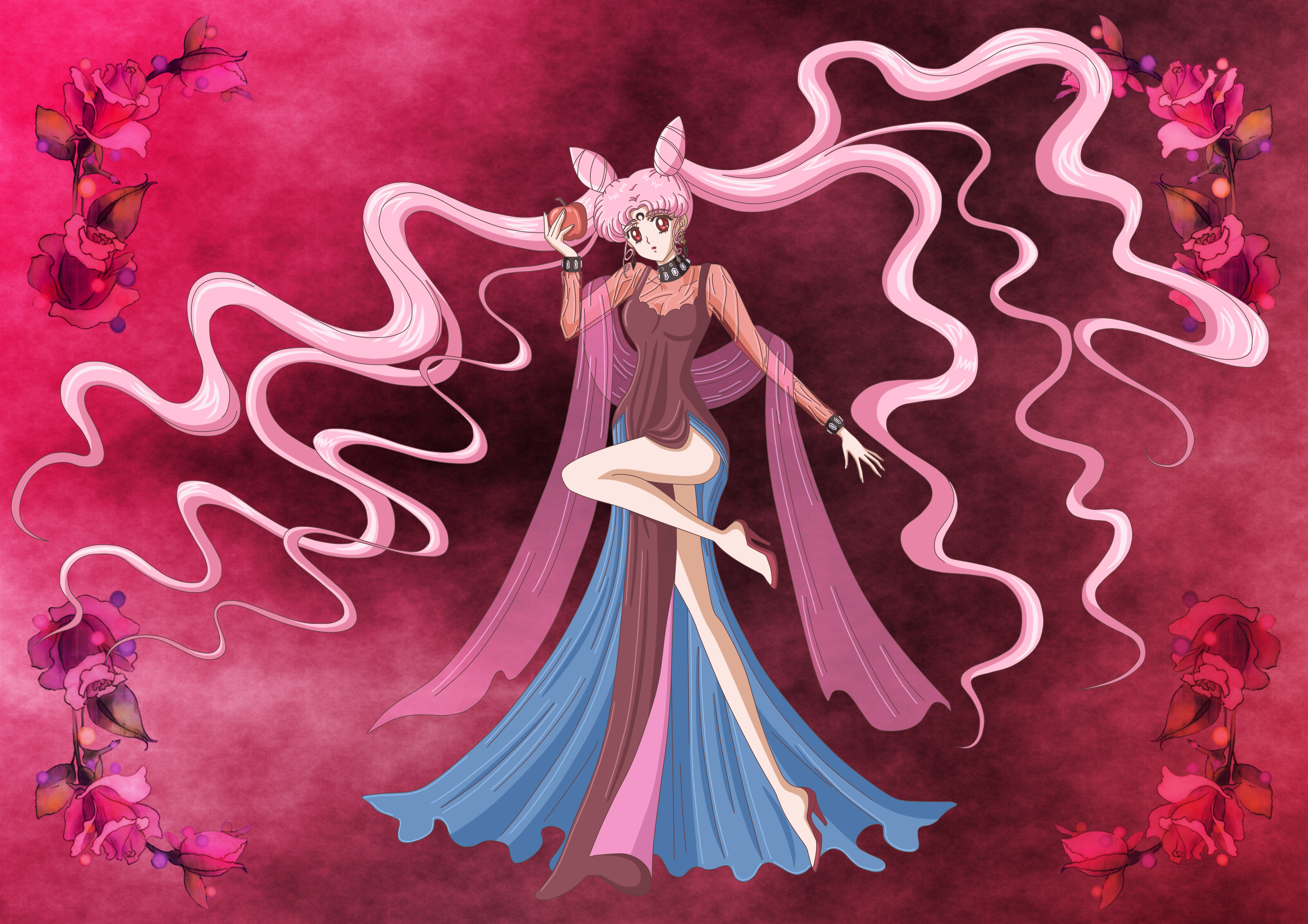 Sailor Moon Crystal Chibiusa As Black Lady By Melodycrystel On