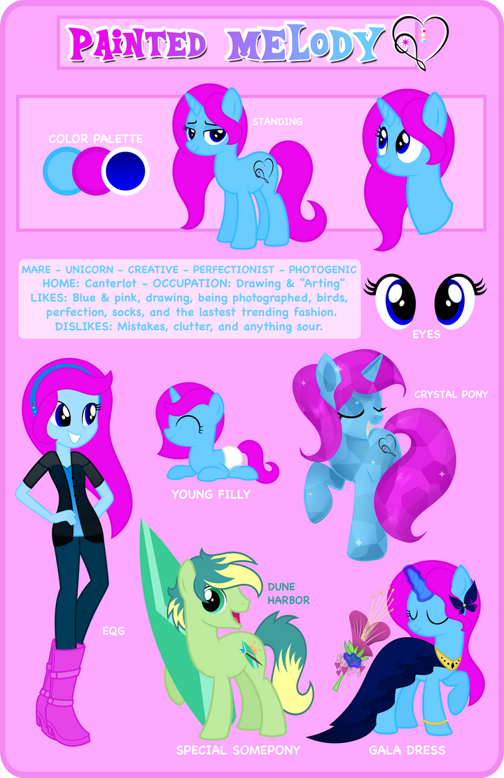 Reference Sheet: Painted Melody by MyPaintedMelody