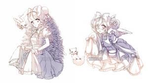 Sketch Commission Batch  5 - Cutesu