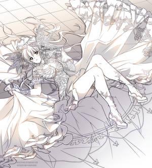 Moondust Sketch Commission - Nadeshiko