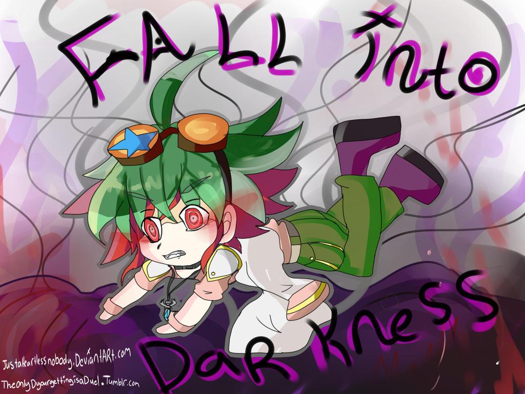 fall into darkness Chibi yuya by justaheartlessnobody