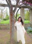 Girl in White Dress 3 Stock