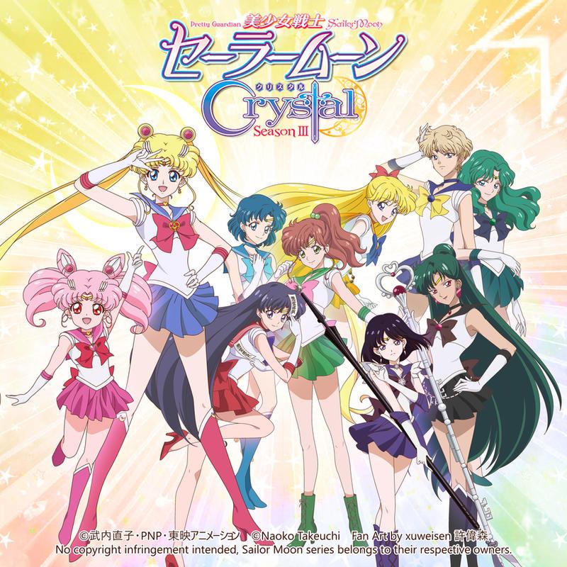 Sailor Moon Crystal Season 3 All Senshi (Square) By