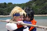 Sasuke and Naruto at the Beach.