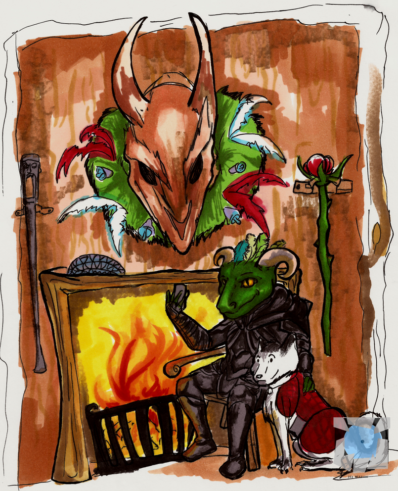 A Skyrim Christmas by Daft--Art