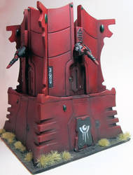 Eldar Bastion painted by ThereBMonsters