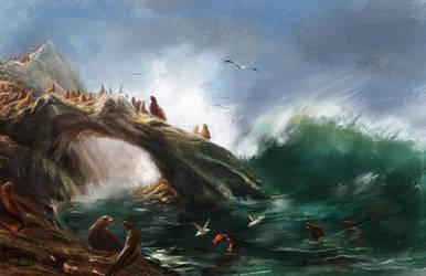 Albert Bierstadt Master Study 3 by AkinAdekile