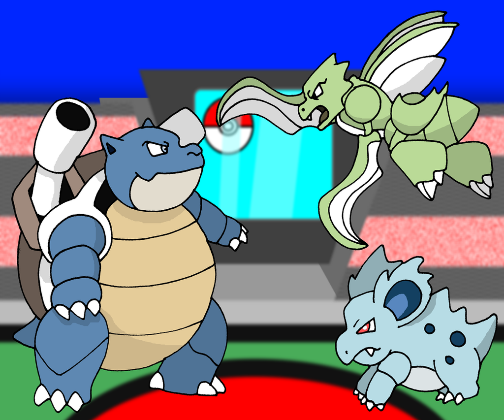 Pokemon Blastoise Scyther And Nidorina 571897803