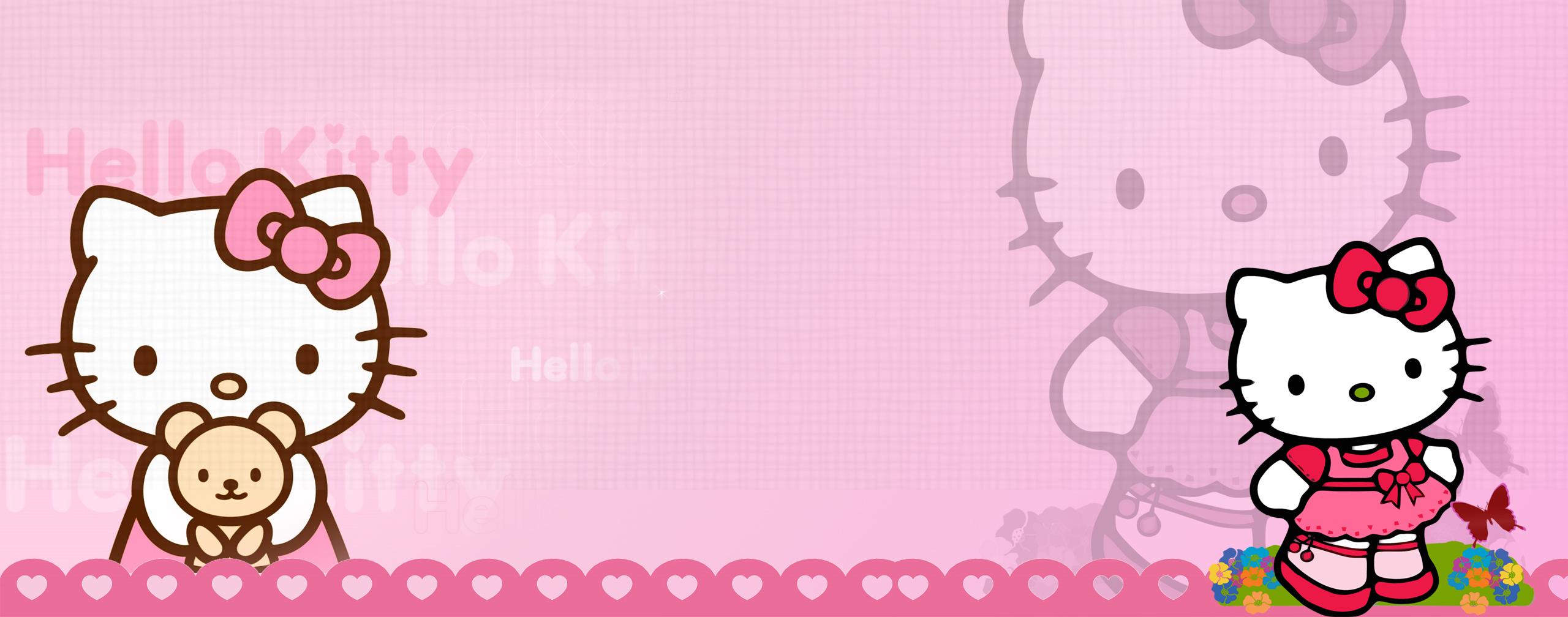 hello kitty dual monitor wallp by brh4j1