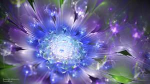 Purple Glass Flower