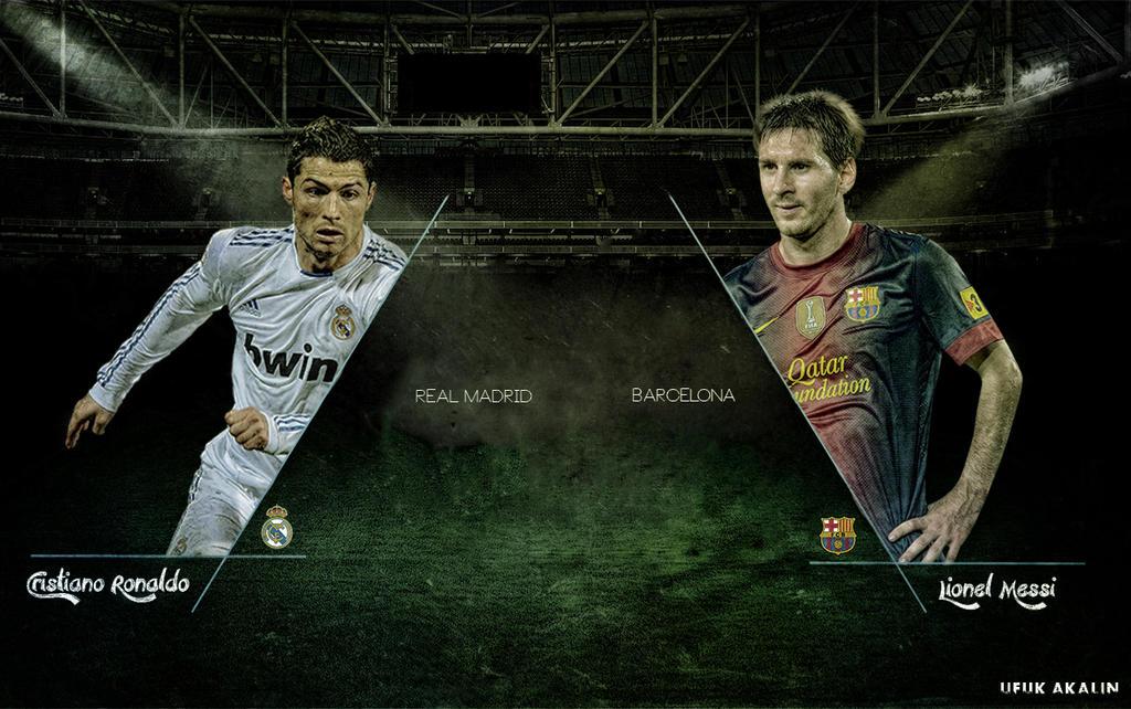 Cristiano Ronaldo Vs Lionel Messi Wallpaper By Ufuuk7 On Deviantart