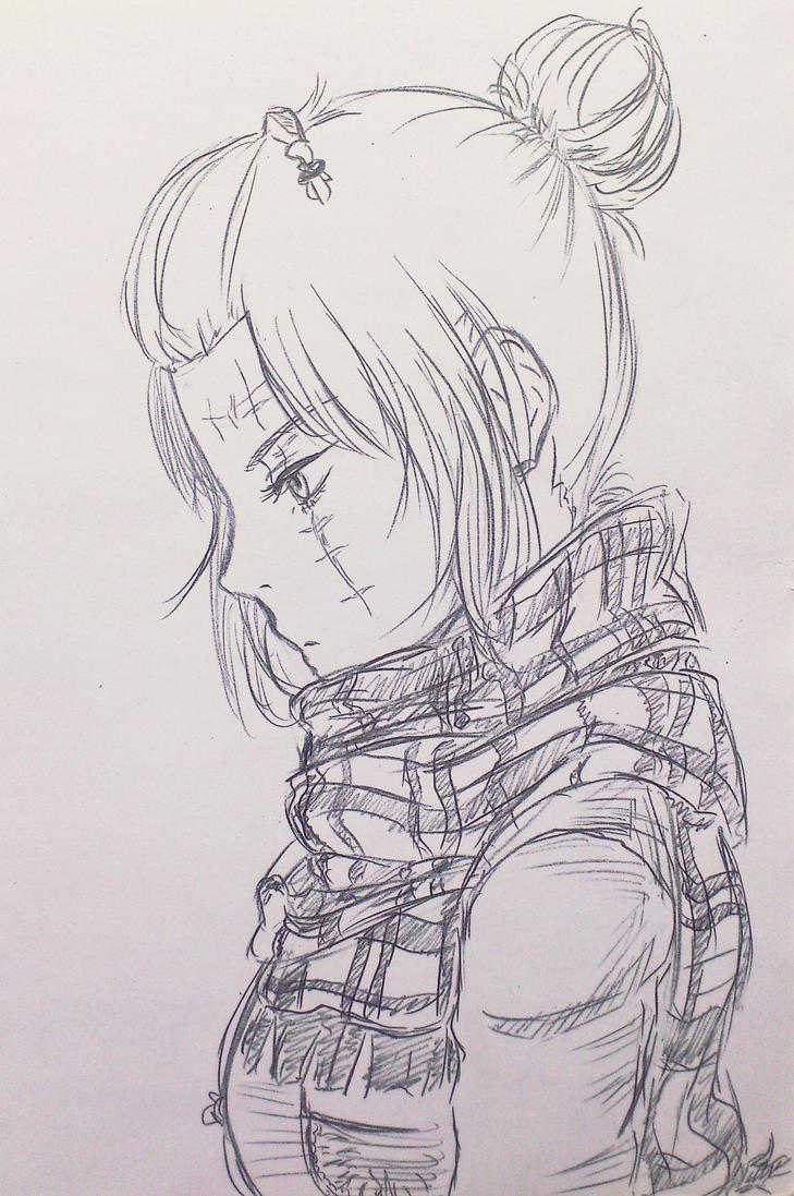 Tsukuyo Doodle by DieKami