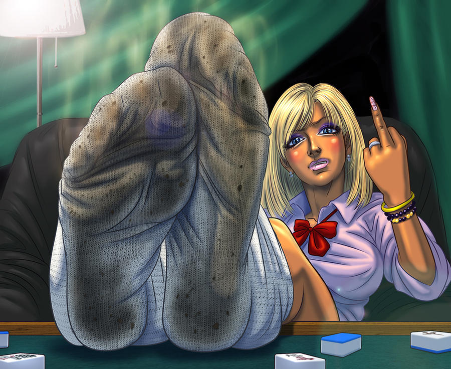 Shoe sock smelling and sucking toes 1