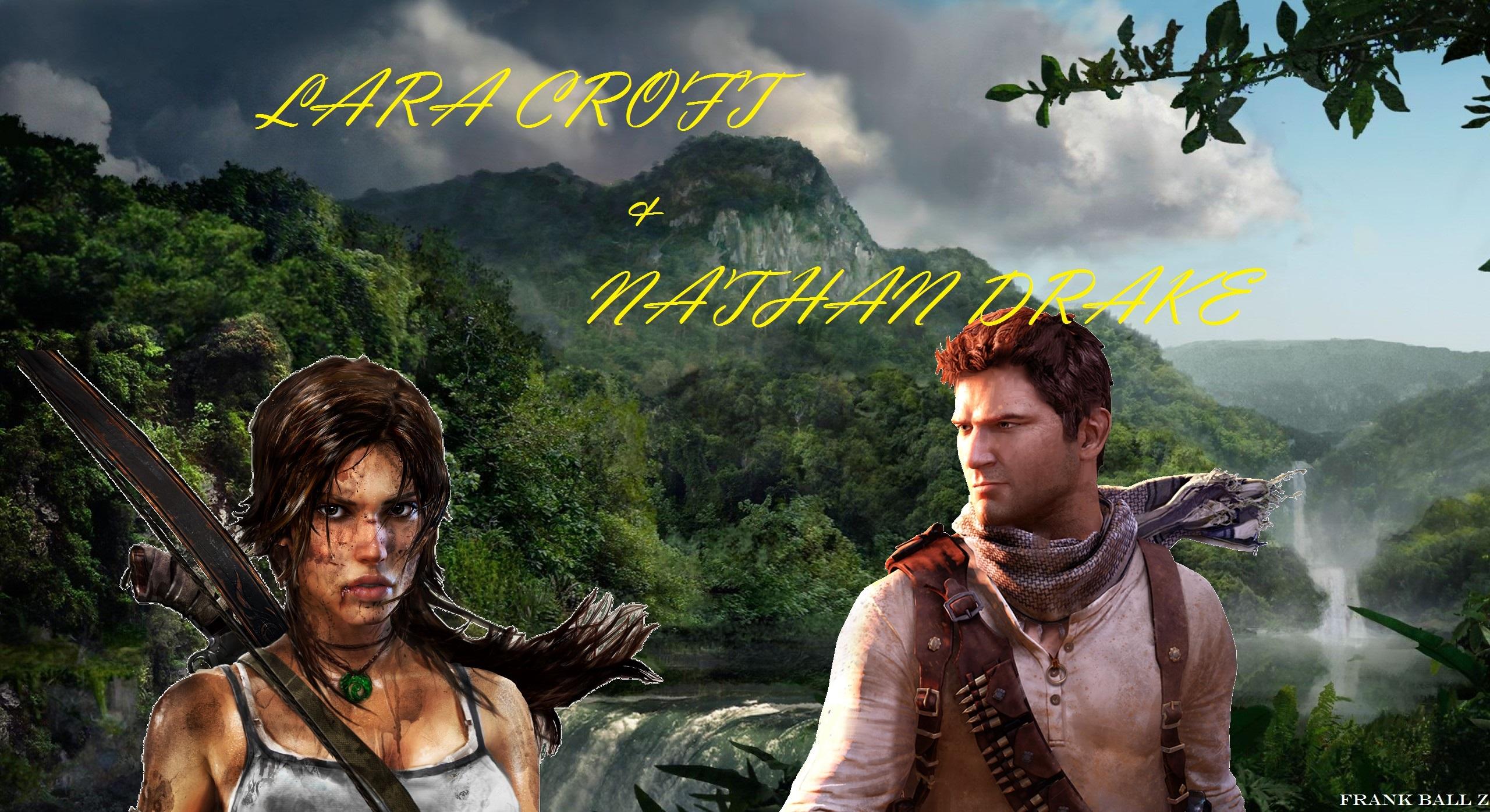 Lara Croft And Nathan Drake: Lara Croft And Nathan Drake By FRANKBALLZ On DeviantArt