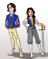 Rumple white and Belle charming by Phantom-Jaselin