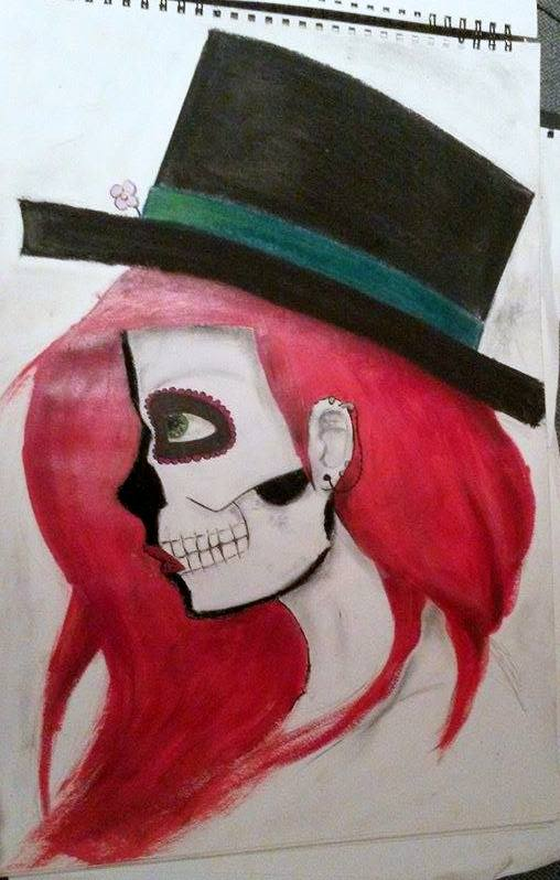skeleton make-up colour by sumo-strawberry