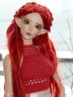Redhead Winter Elf by idrilkeeps
