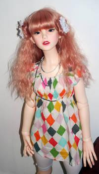 Cassandra in Harlequin top