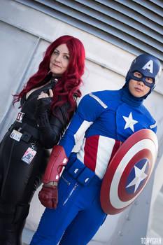 Captain America and Black Widow Cosplay I of III