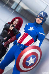 Captain America and Black Widow Cosplay II of III