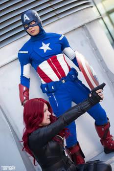 Captain America and Black Widow Cosplay III of III