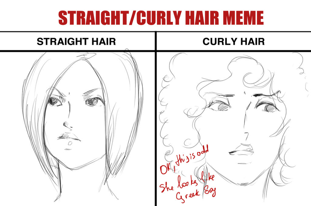 Cornelia Straight Curly Hair Meme By Isen Rose On Deviantart