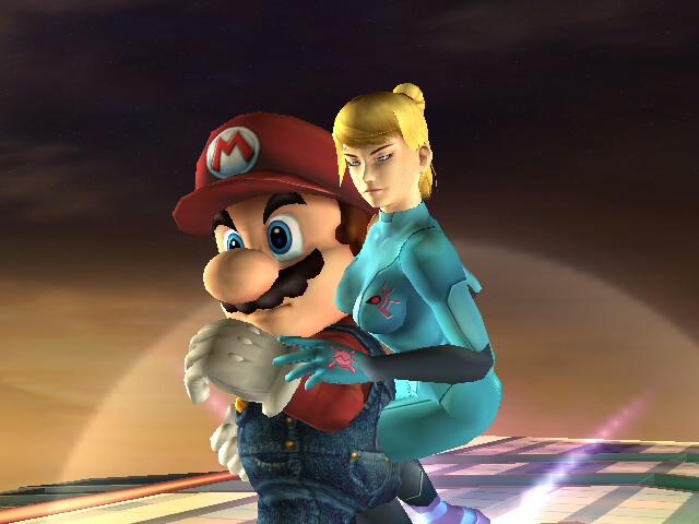 Mario and Samus Aran by pksoldierX - 100.0KB