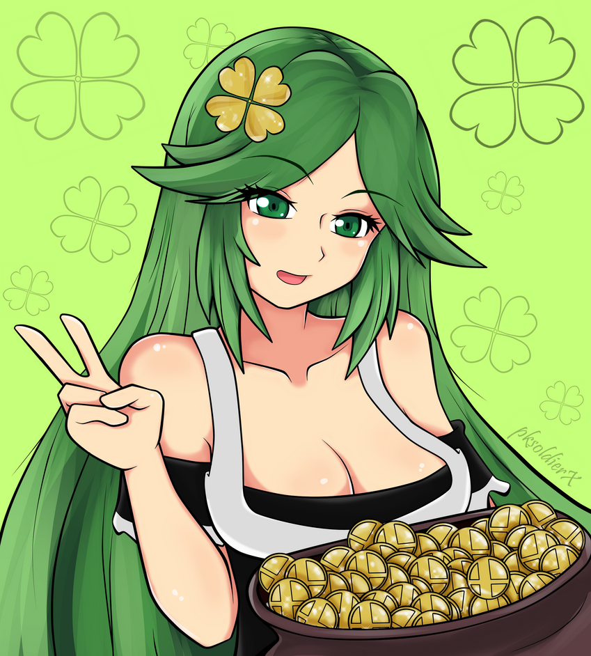 St Patrick's Day Palutena by pksoldierX
