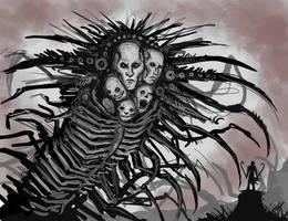 Torquemada and Vucub-Came by Abelardo