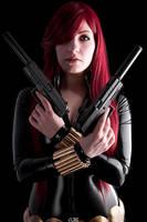 Black Widow - Guns Blazing by Aleke