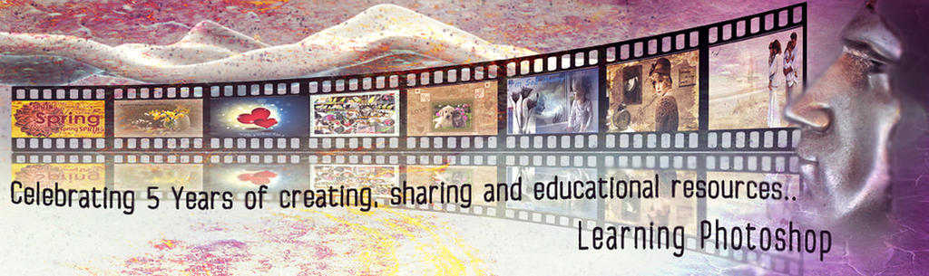 Learning Photoshop 5th Anniversary Banner