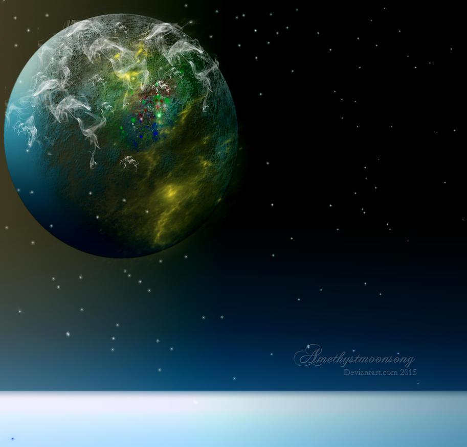 Edge of Space by amethystmstock