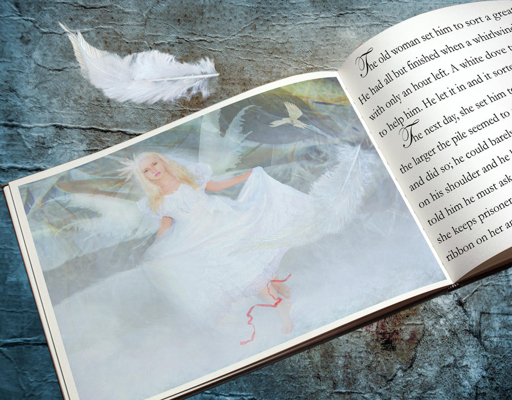 White Dove Storybook by amethystmstock
