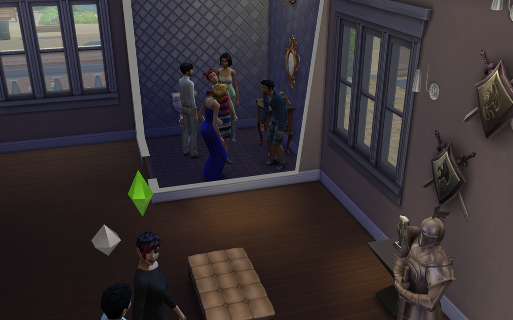 Sims Screenshot Party In The Bathroom By RuneTheRalts On DeviantArt - Party in the bathroom