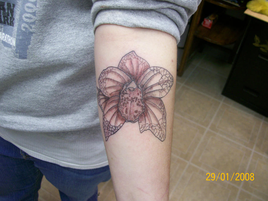 black and grey flower | Flower Tattoo