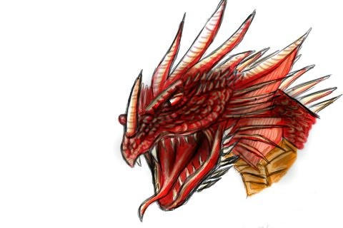 Ruby Red-eyed Dragon by dopums