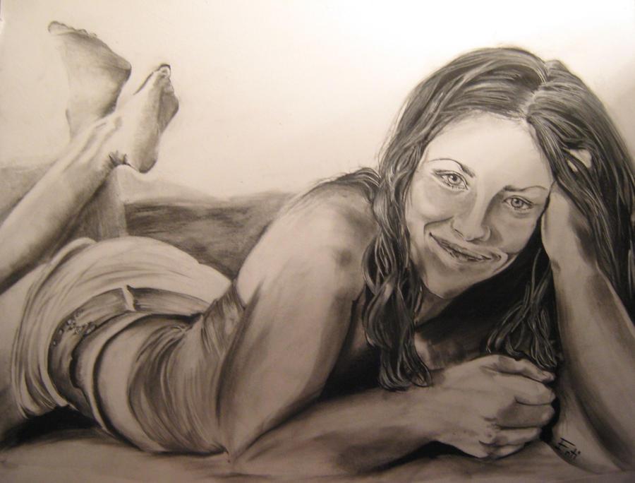 Eve on the beach by Entissar