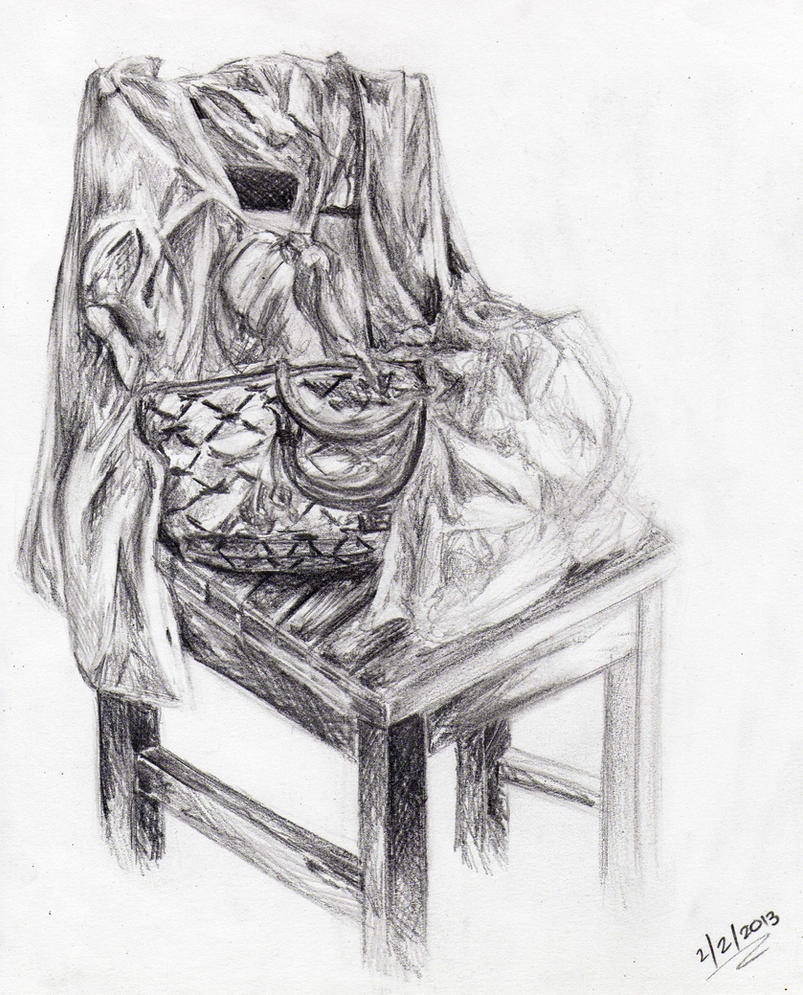 Chair and cloth by lovelylittlesunshine