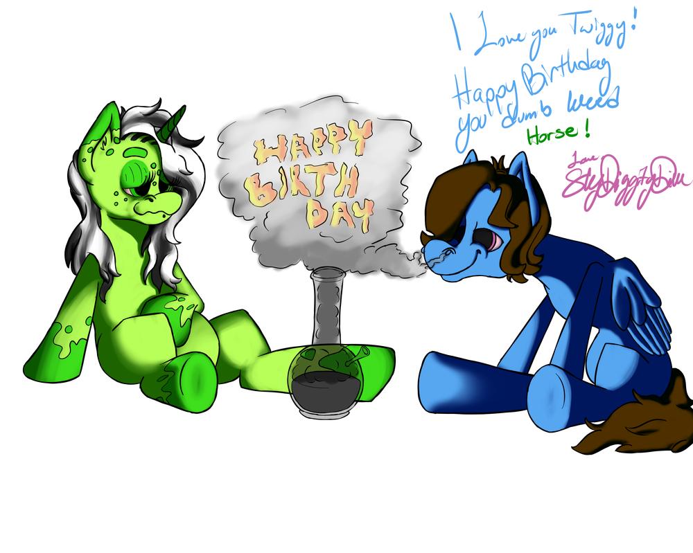 Birthday Present by SkyDiggityDive-art