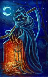 Grim Feline by carefulwhatyawishfor