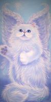 Persian Kitty Angel by carefulwhatyawishfor