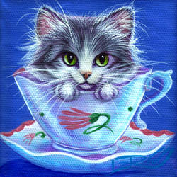 Susie Cooper Tea Time Kitty by carefulwhatyawishfor