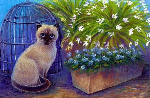 Garden Siamese OSWOA by carefulwhatyawishfor