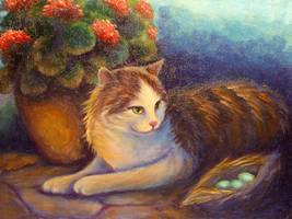 Sunlit Tabby by carefulwhatyawishfor
