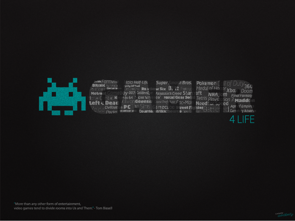 gamer for life desktop wallpaper by chucklesmedia on