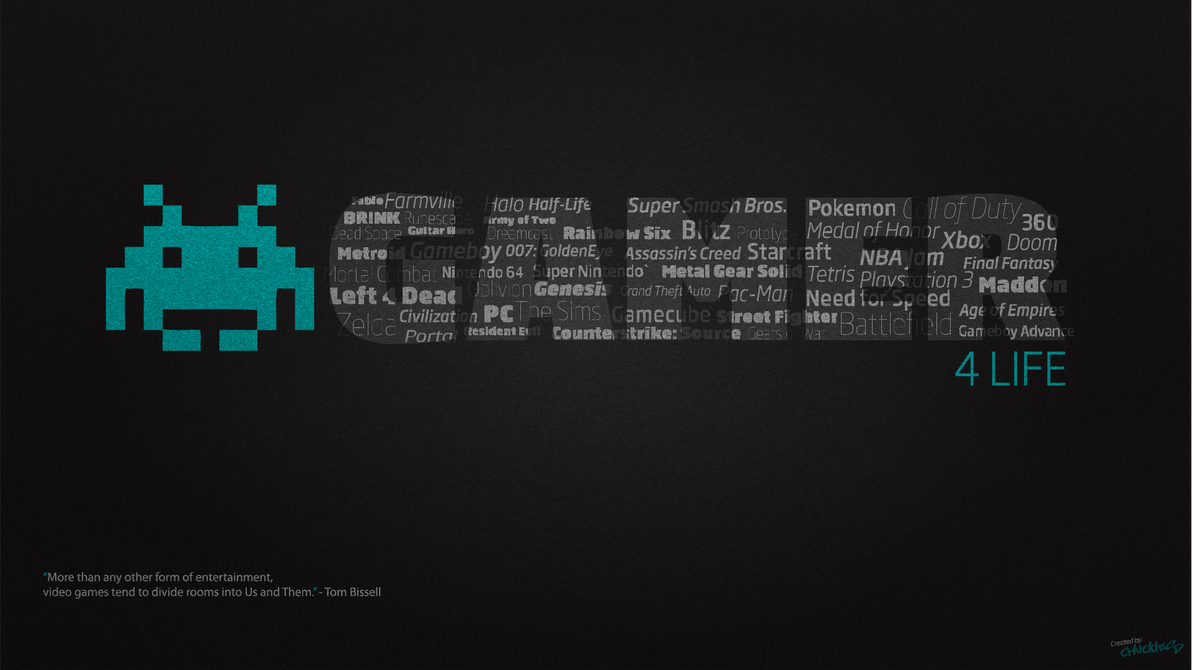 Gamer For Life Desktop Wallpaper 1920x1080 By Chucklesmedia On