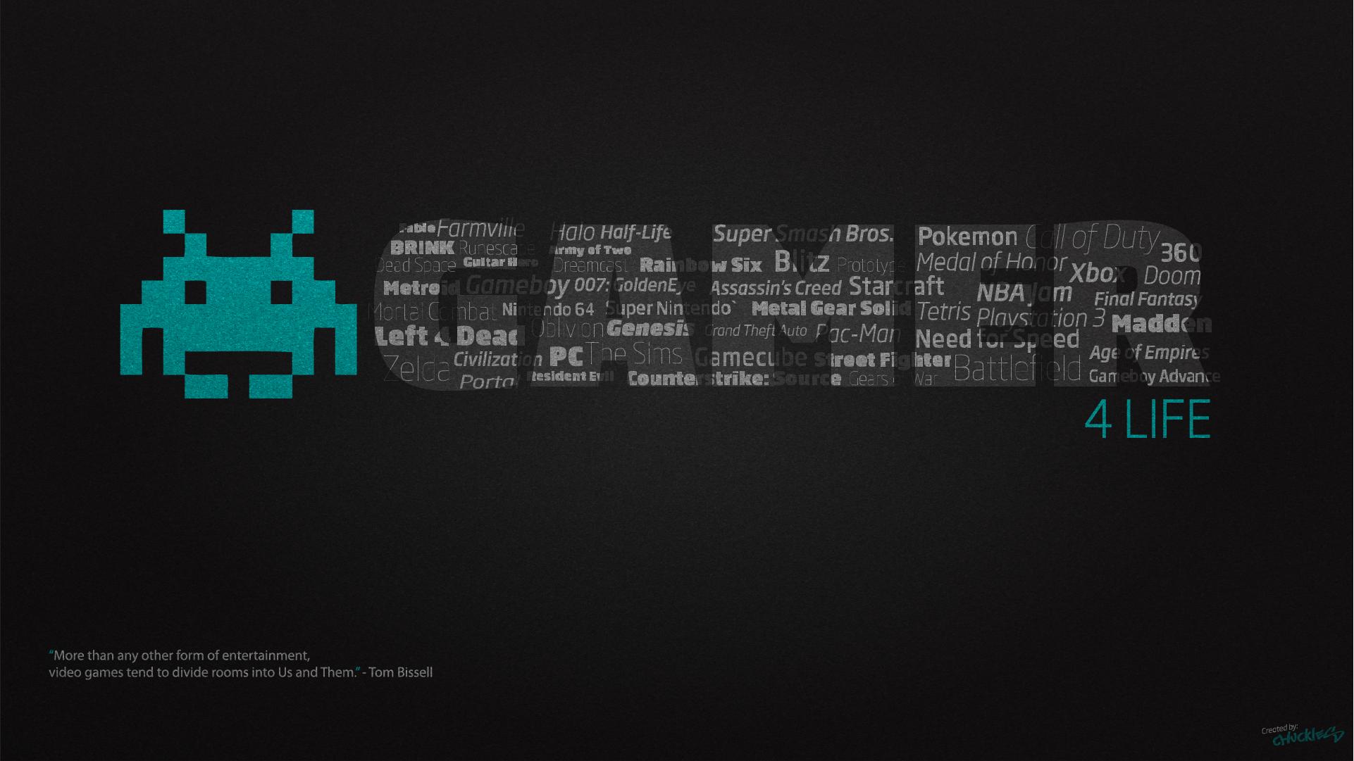 Best Gamer For Life Desktop Wallpaper By Chucklesmedia On Deviantart