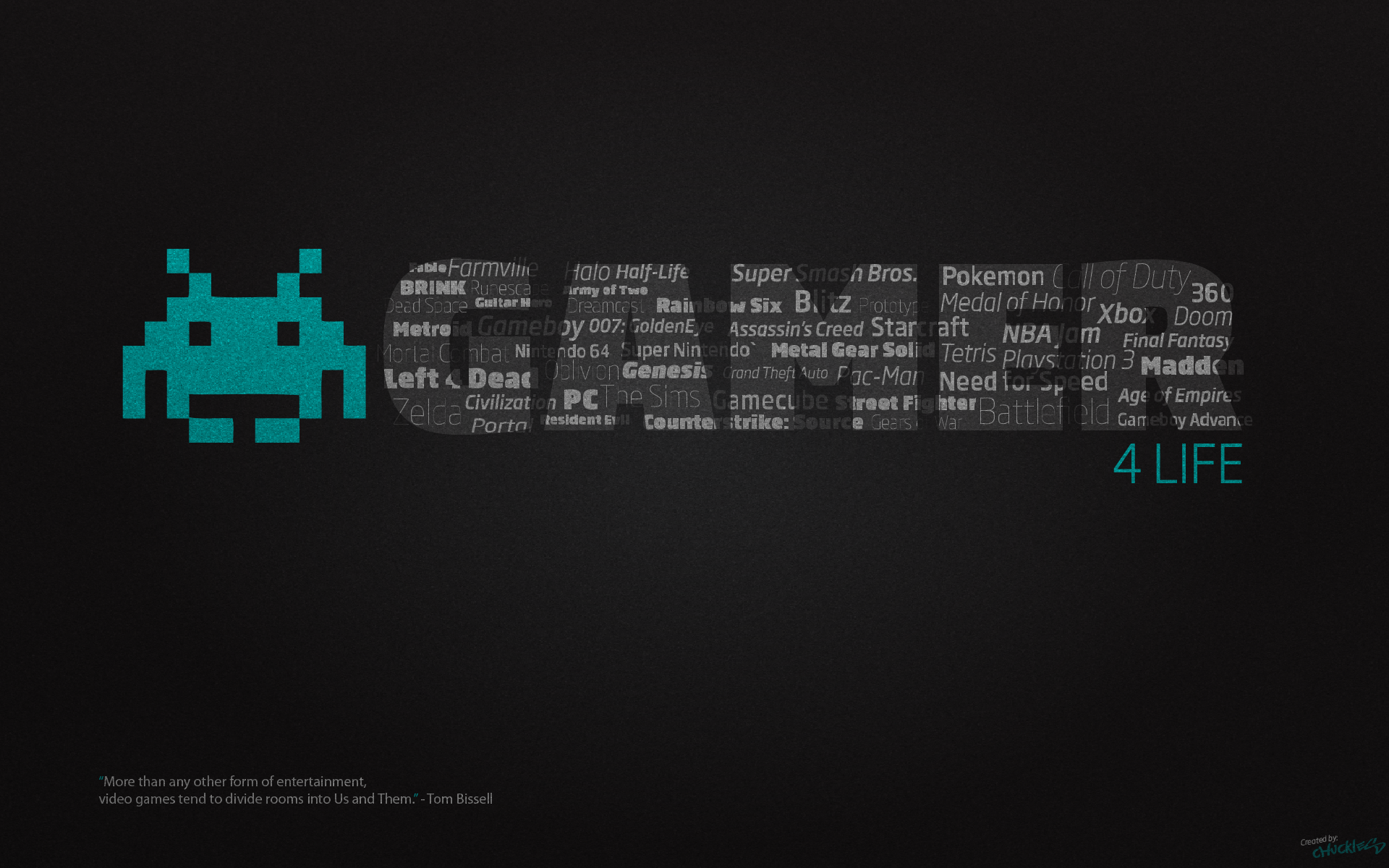 gamer for life desktop wallpaper 1920x1200 by chucklesmedia